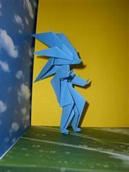 Оригами из бумаги как сделать соника